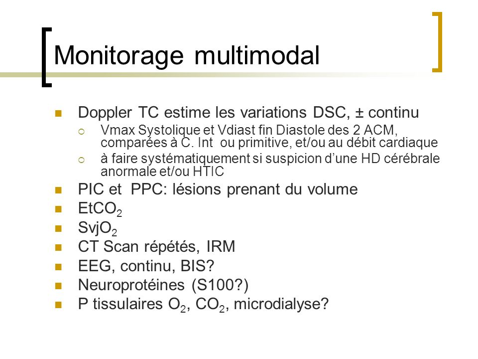 Monitorage multimodal