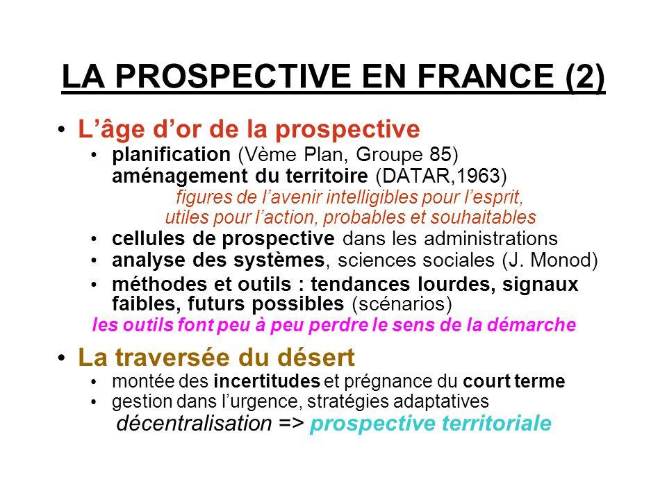 LA PROSPECTIVE EN FRANCE (1)