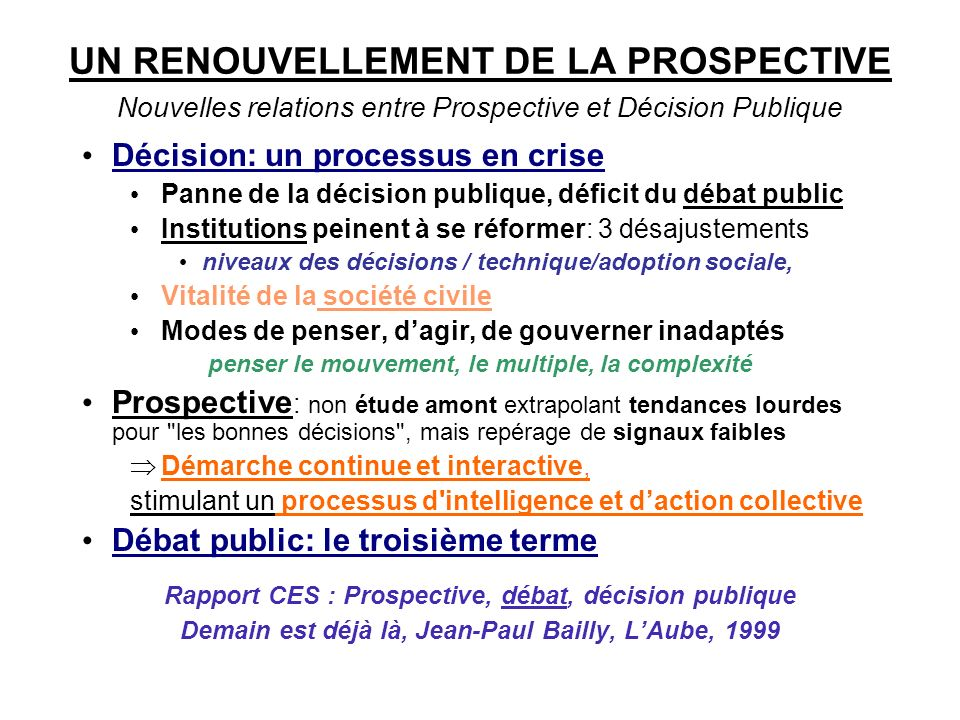 LA PROSPECTIVE EN FRANCE (2)