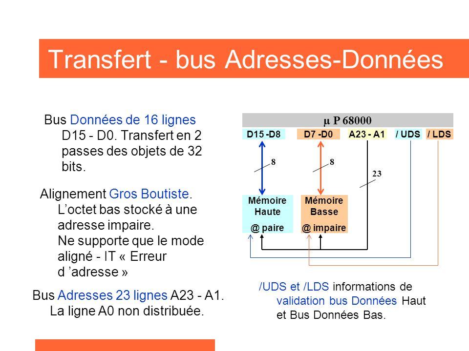 Transfert - bus Adresses-Données
