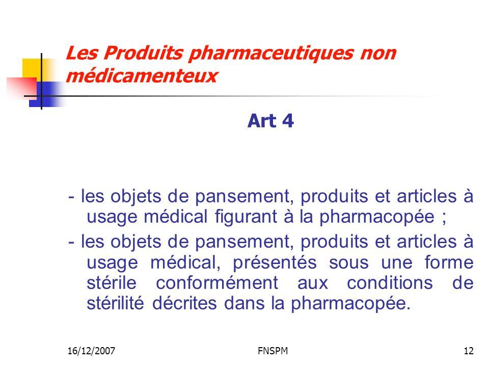 Les Produits pharmaceutiques non médicamenteux
