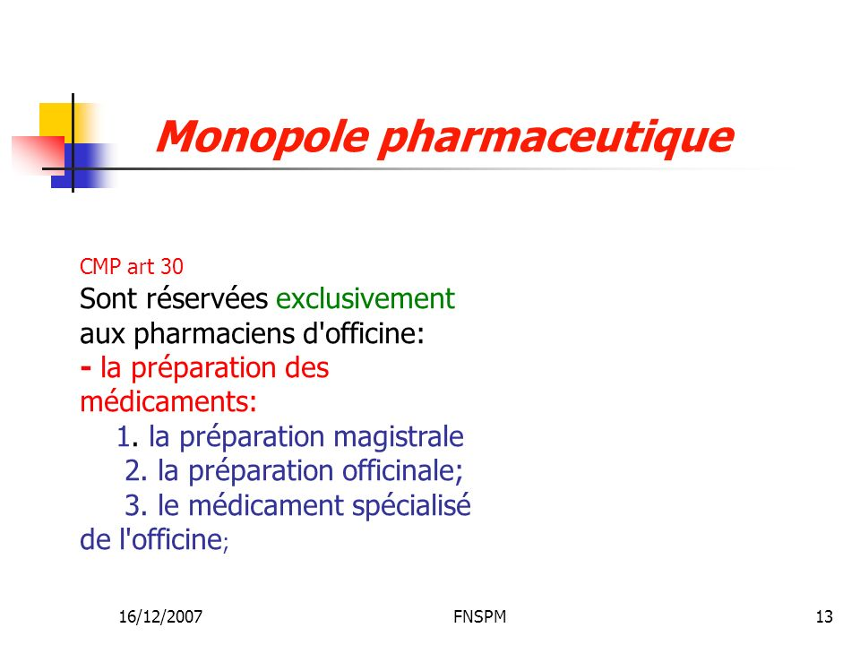 Monopole pharmaceutique