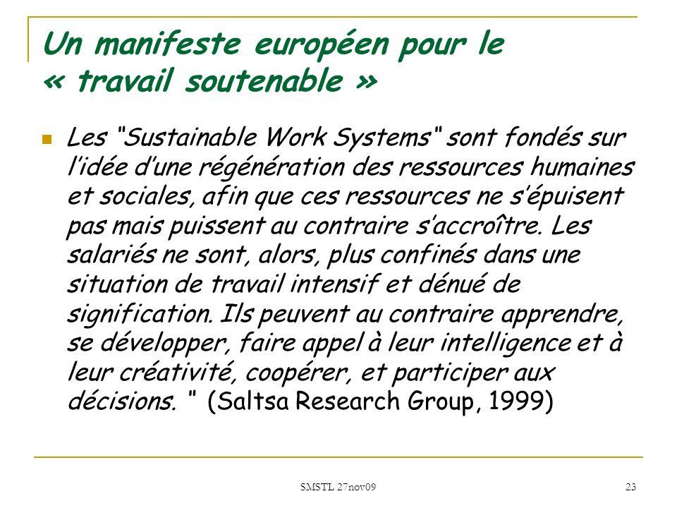 Un manifeste européen pour le « travail soutenable »
