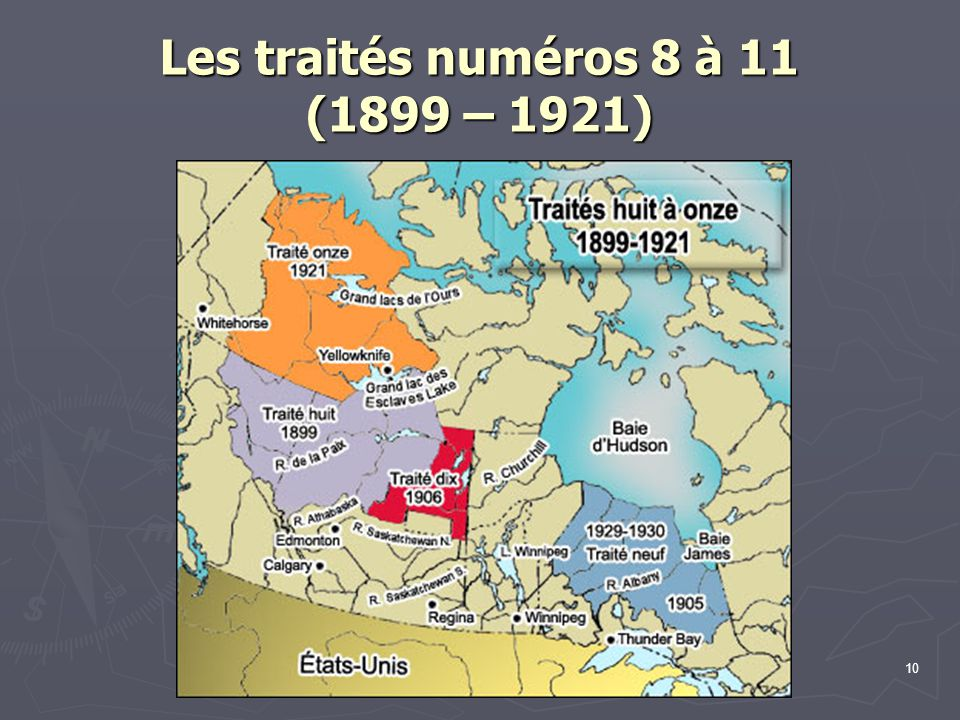 Les traités numéros 8 à 11 (1899 – 1921)