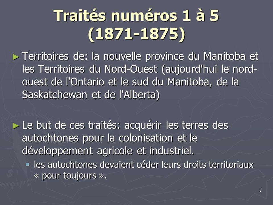 Traités numéros 1 à 5 (1871-1875)