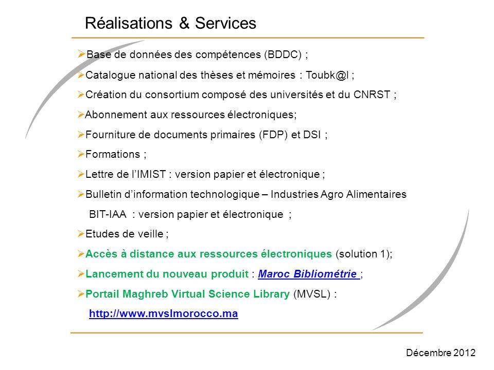 Réalisations & Services