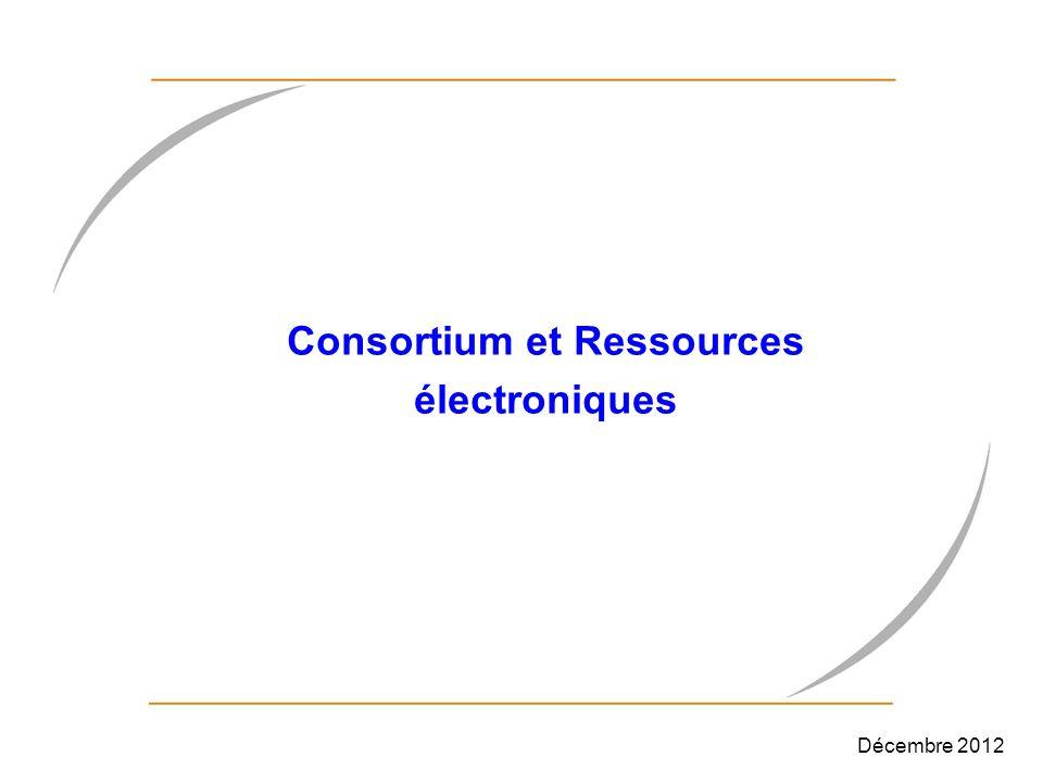 Consortium et Ressources électroniques
