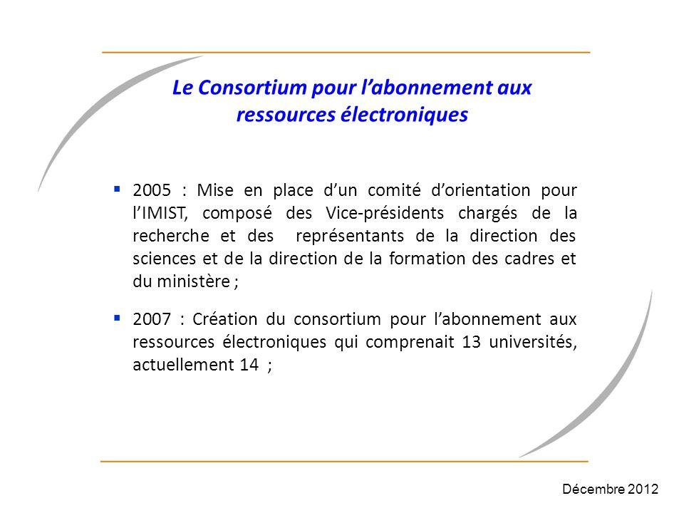 Le Consortium pour l'abonnement aux ressources électroniques