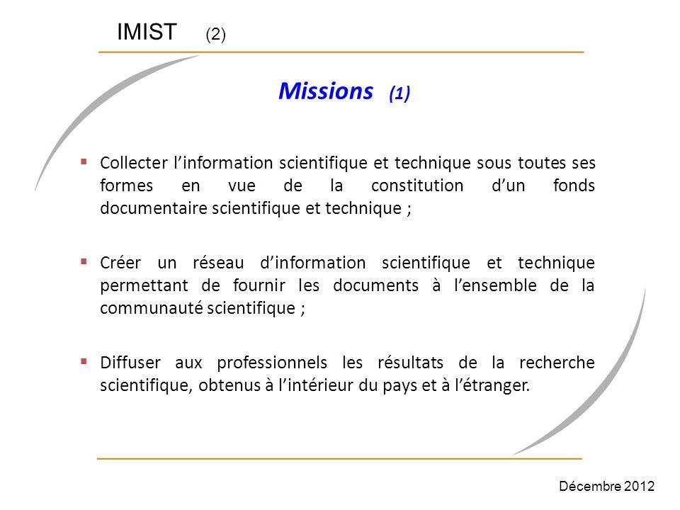 IMIST (2) Missions (1)