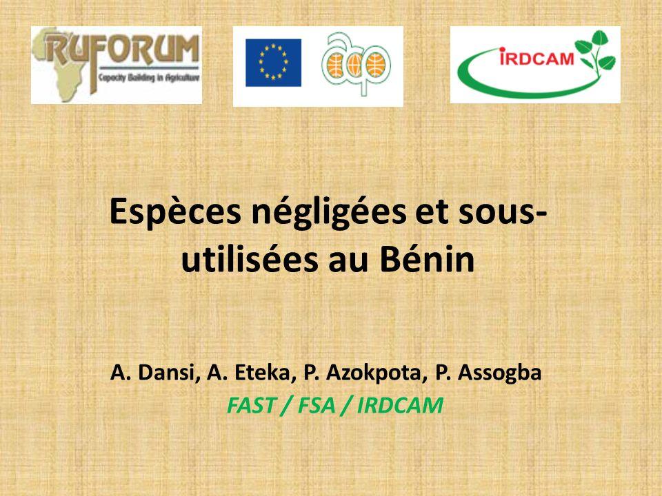 Espèces négligées et sous-utilisées au Bénin