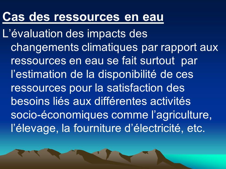 Cas des ressources en eau