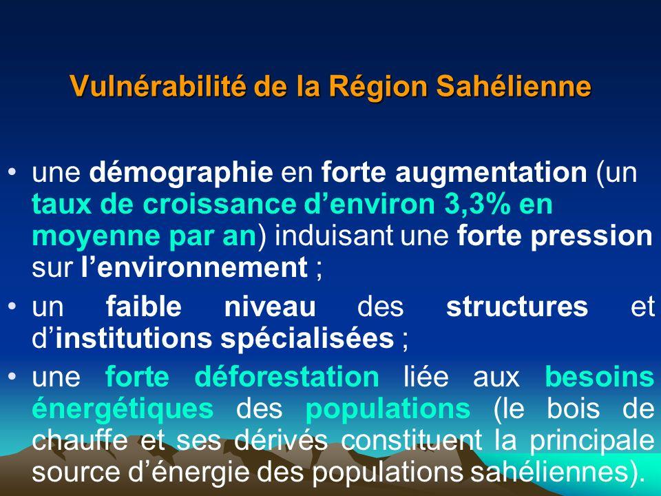 Vulnérabilité de la Région Sahélienne