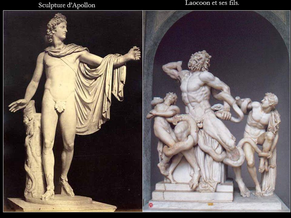Laocoon et ses fils. Sculpture d'Apollon
