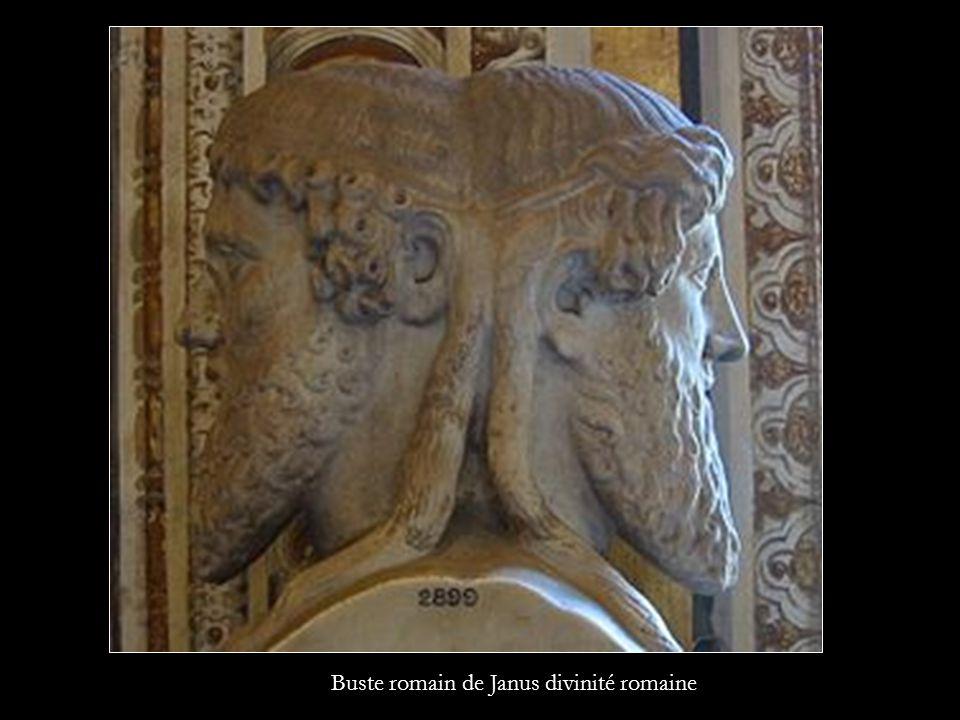 Buste romain de Janus divinité romaine