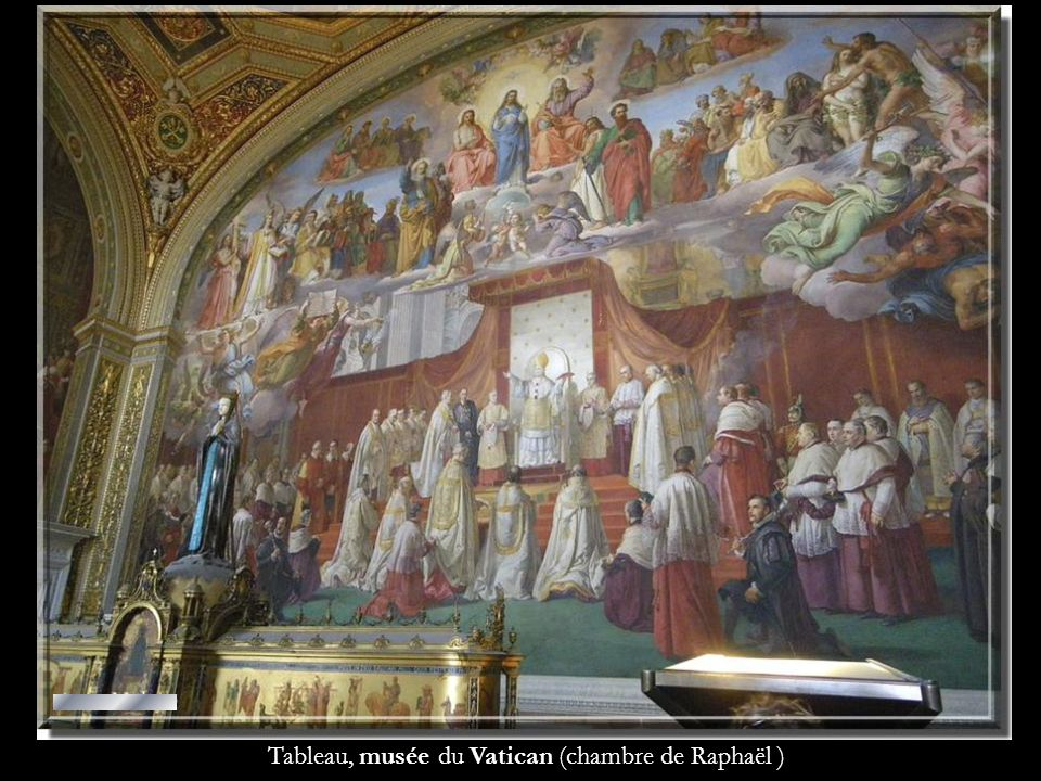 Tableau, musée du Vatican (chambre de Raphaël )