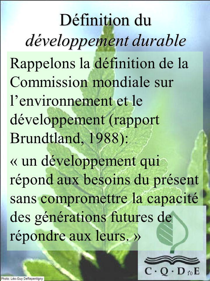 Définition du développement durable