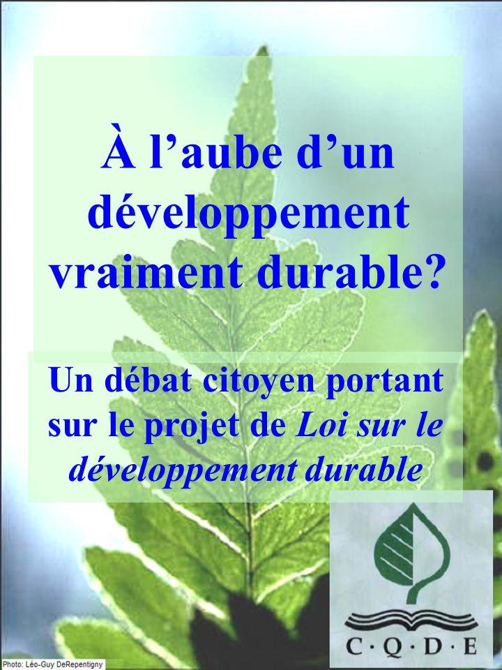 À l'aube d'un développement vraiment durable