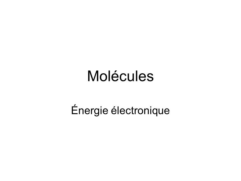 Molécules Énergie électronique