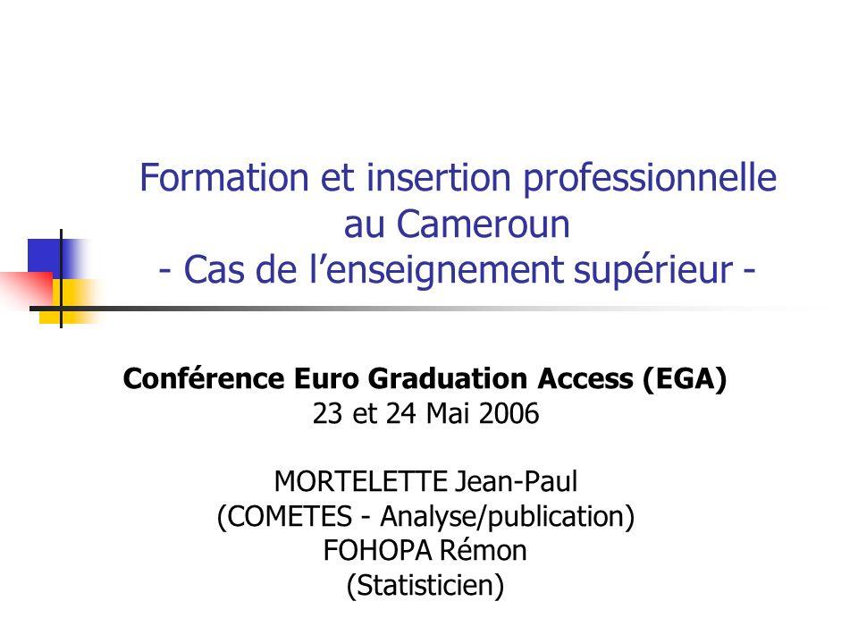 Conférence Euro Graduation Access (EGA)