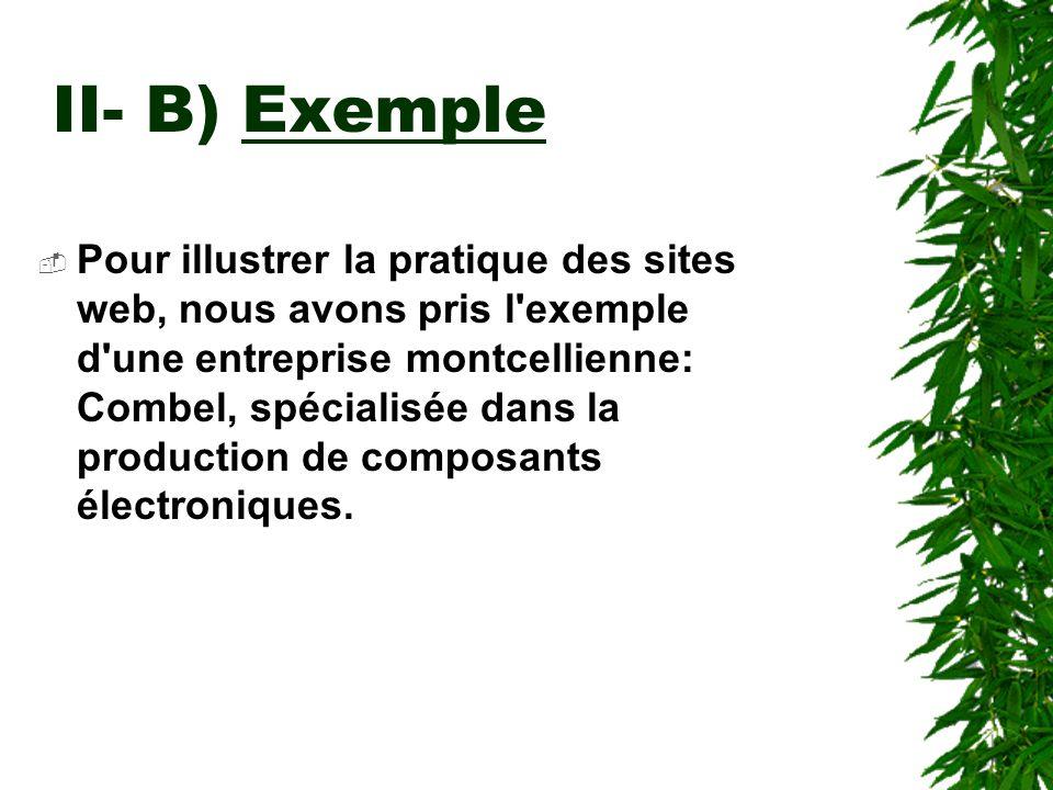 II- B) Exemple
