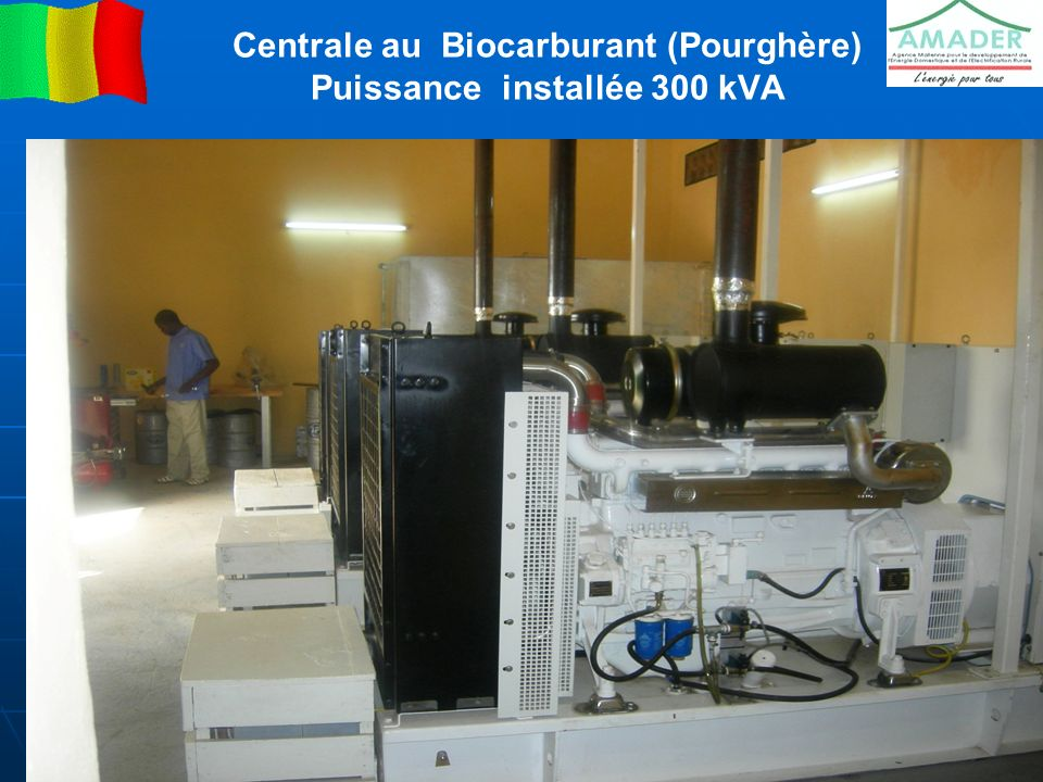 Centrale au Biocarburant (Pourghère) Puissance installée 300 kVA