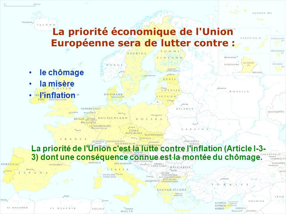 La priorité économique de l Union Européenne sera de lutter contre :