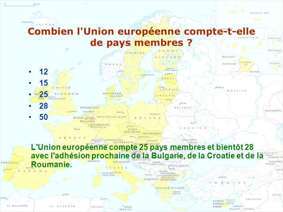 Combien l Union européenne compte-t-elle de pays membres
