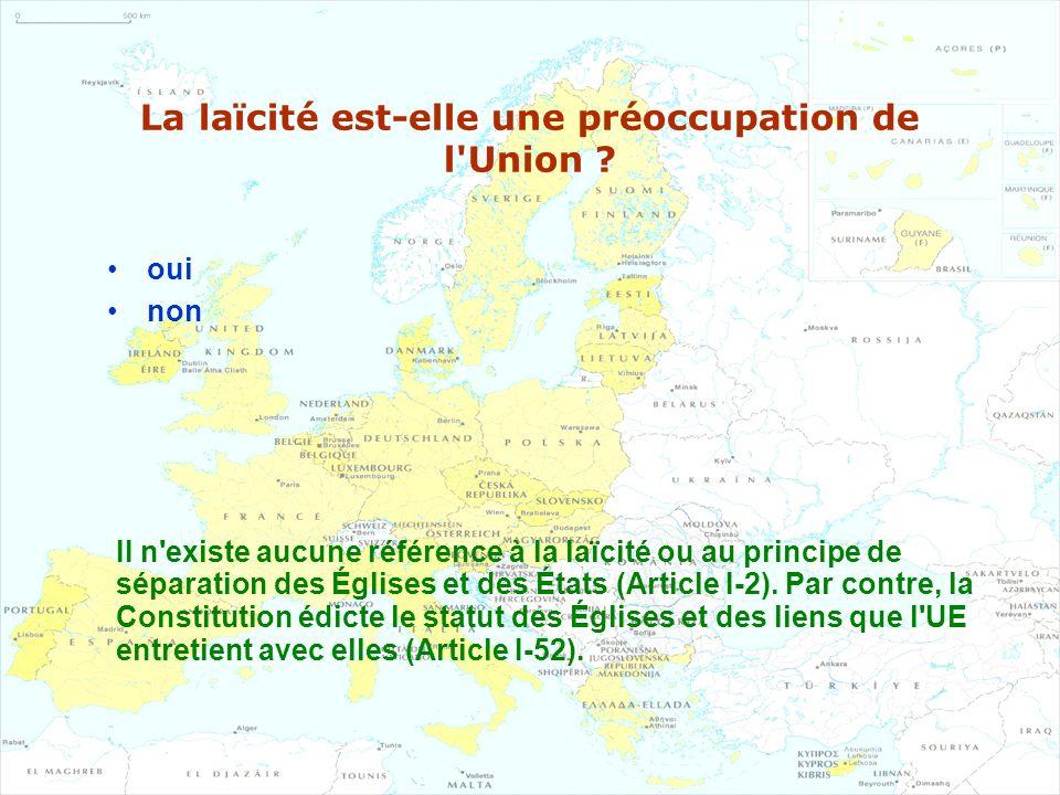 La laïcité est-elle une préoccupation de l Union