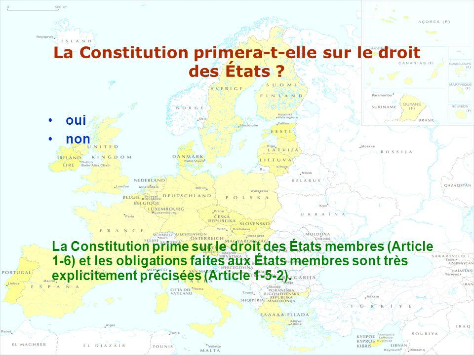 La Constitution primera-t-elle sur le droit des États