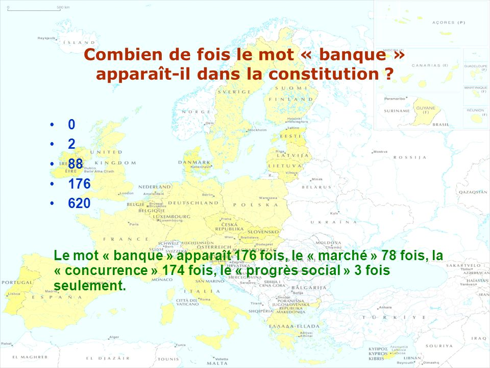 Combien de fois le mot « banque » apparaît-il dans la constitution