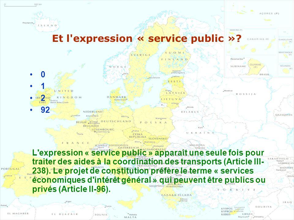 Et l expression « service public »