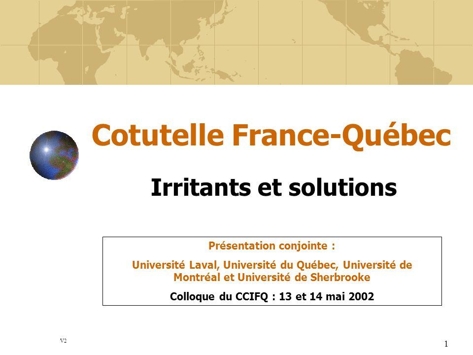 Cotutelle France-Québec