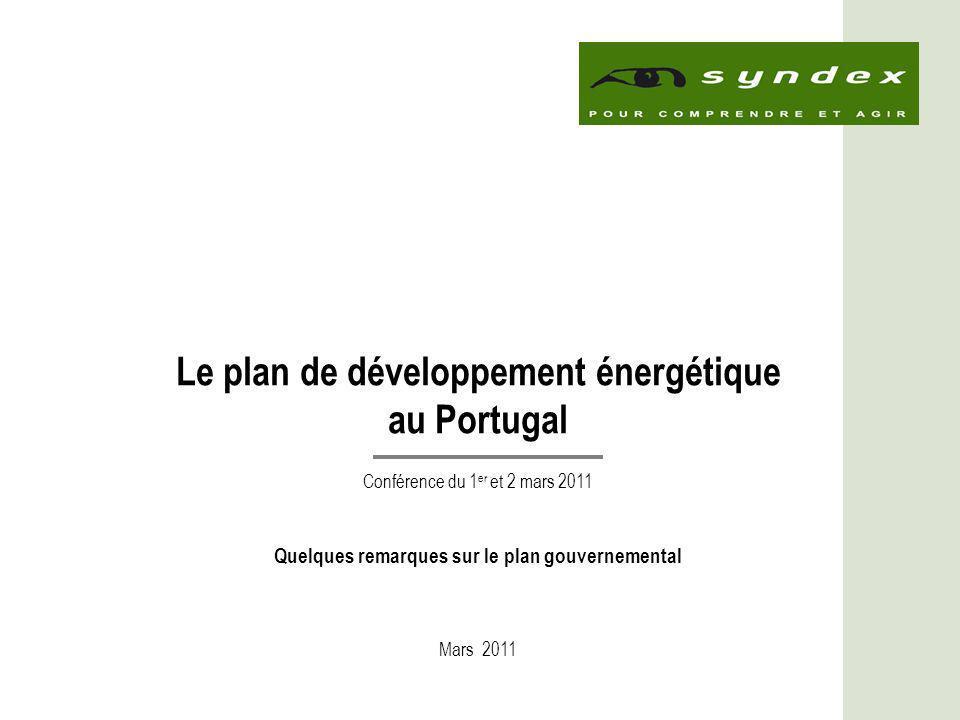 Le plan de développement énergétique au Portugal