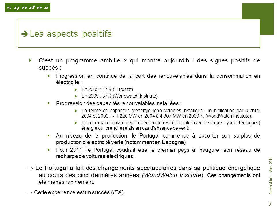 Les aspects positifs C'est un programme ambitieux qui montre aujourd'hui des signes positifs de succès :