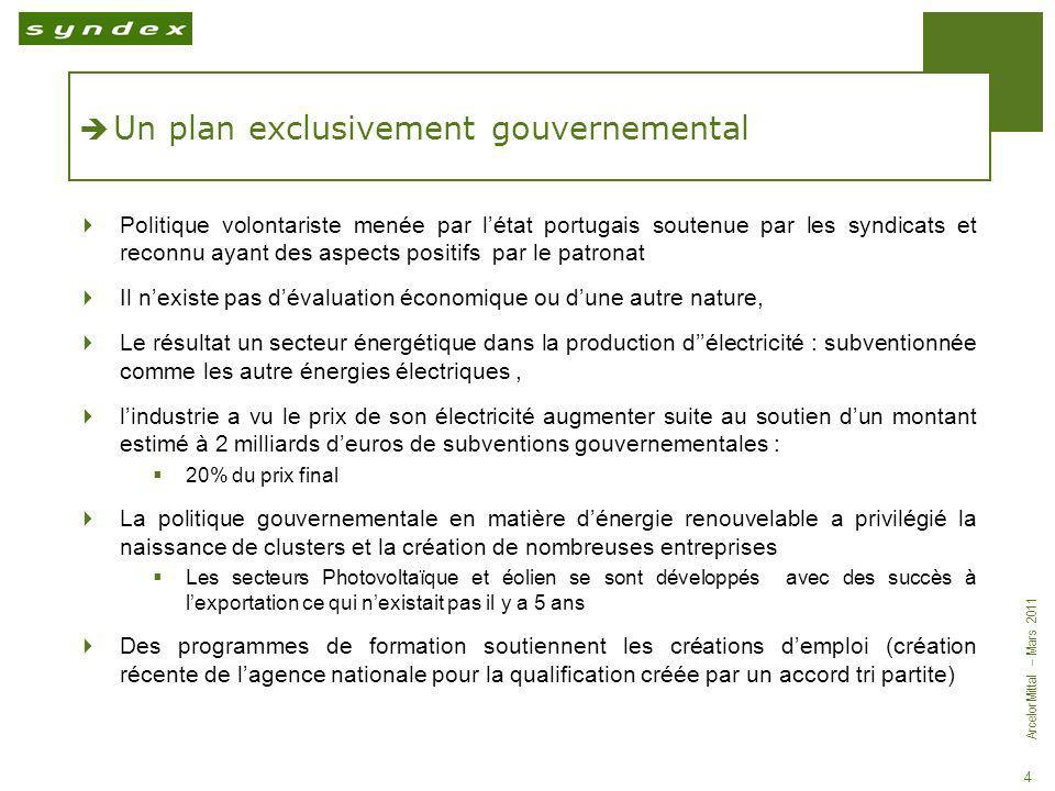 Un plan exclusivement gouvernemental