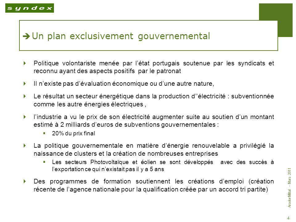 Un plan exclusivement gouvernemental