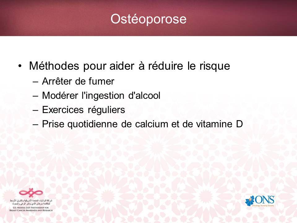 Ostéoporose Méthodes pour aider à réduire le risque Arrêter de fumer