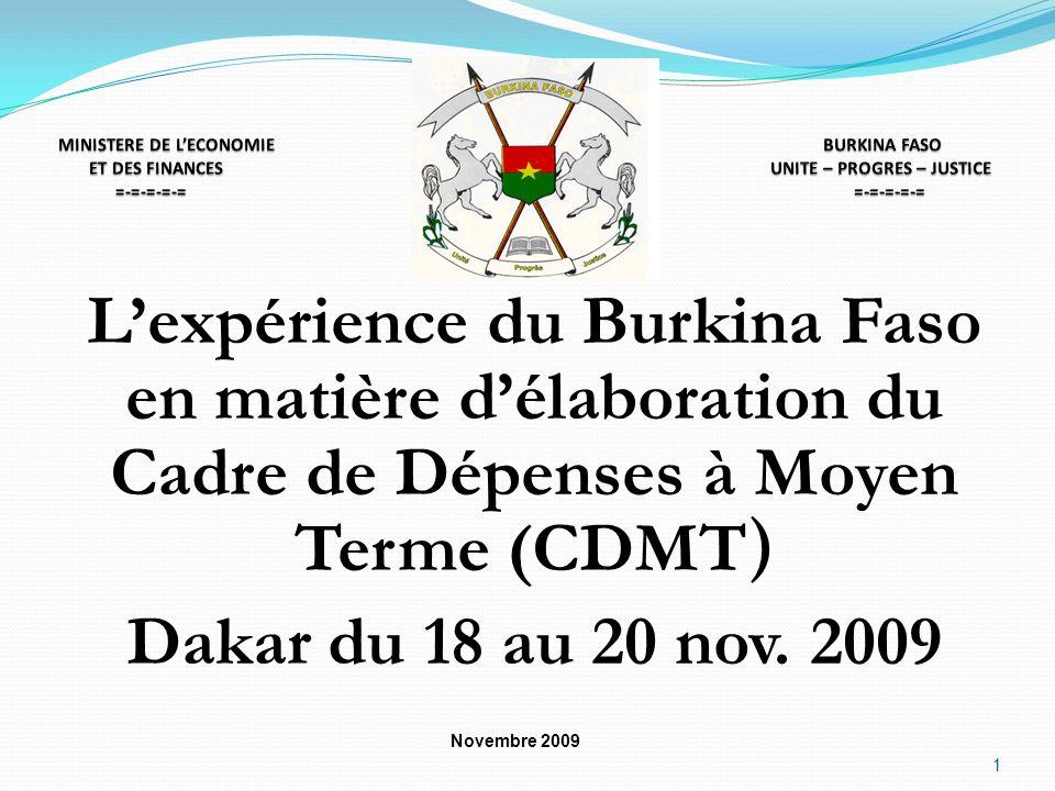 MINISTERE DE L'ECONOMIE. BURKINA FASO ET DES FINANCES