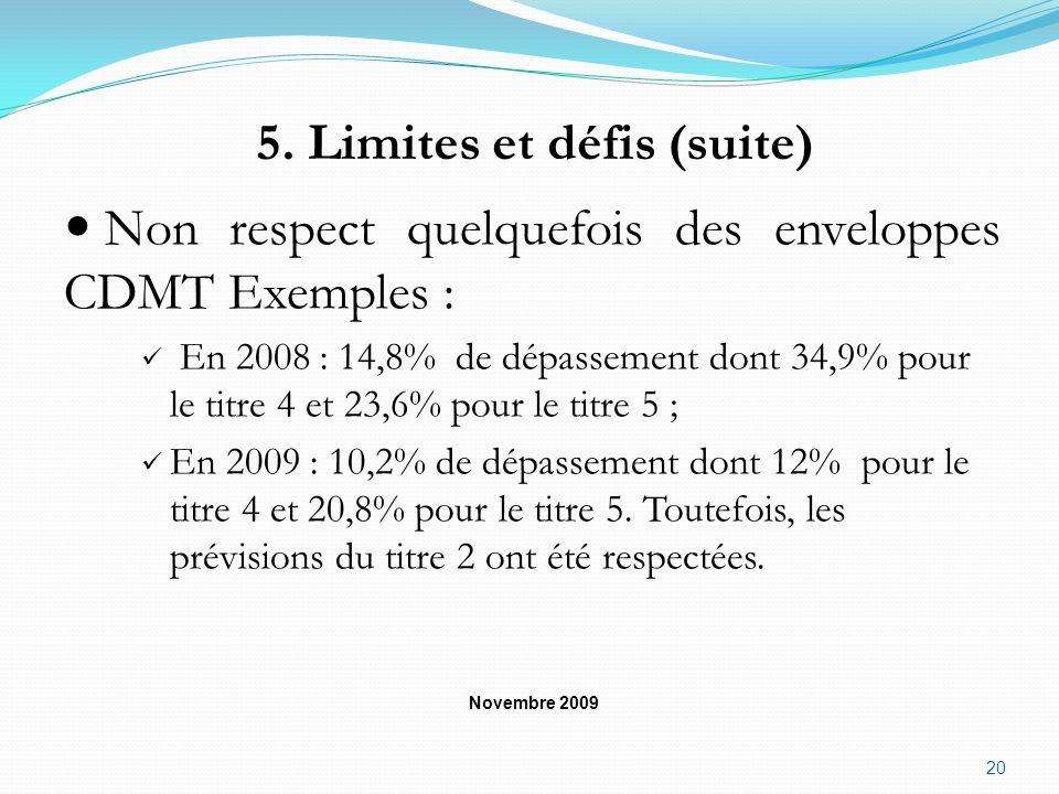 5. Limites et défis (suite)