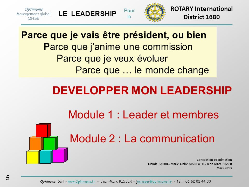 DEVELOPPER MON LEADERSHIP