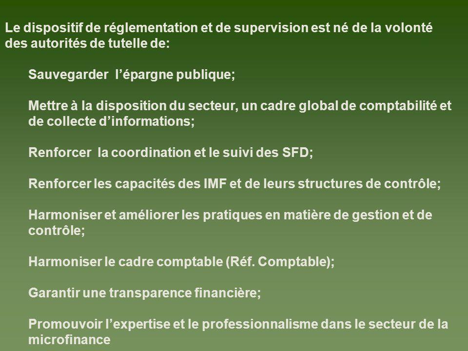 Le dispositif de réglementation et de supervision est né de la volonté