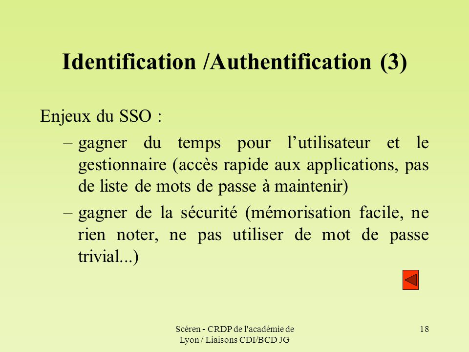 Identification /Authentification (3)