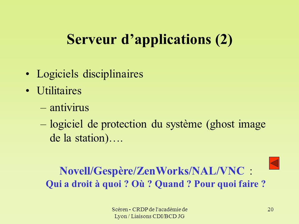Serveur d'applications (2)