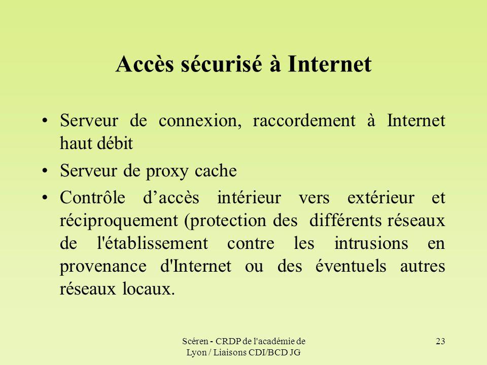 Accès sécurisé à Internet