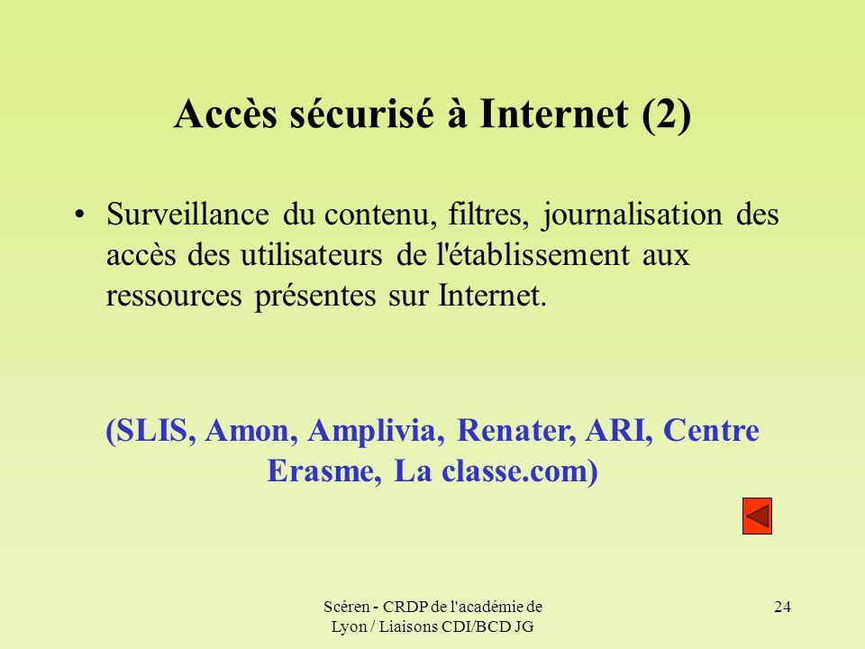 Accès sécurisé à Internet (2)