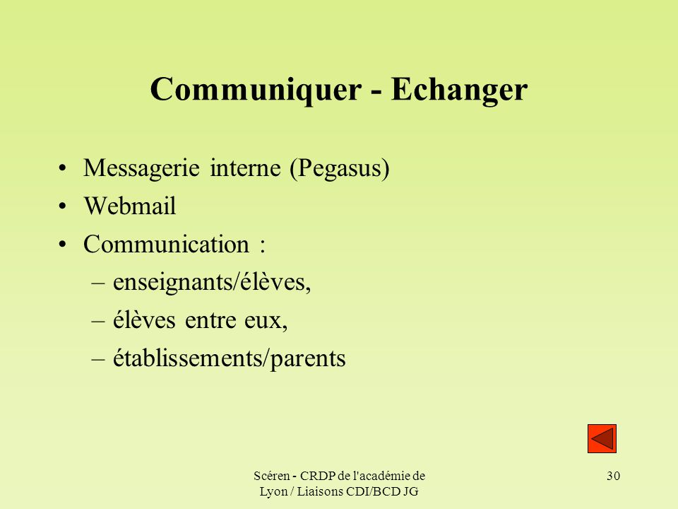 Communiquer - Echanger
