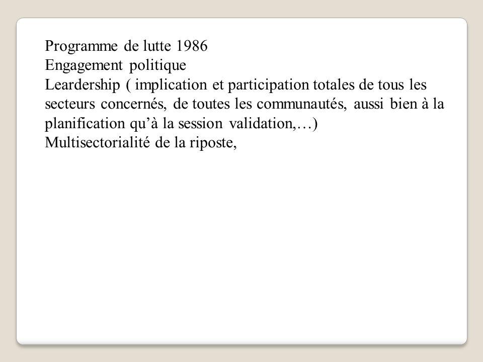 Programme de lutte 1986 Engagement politique.
