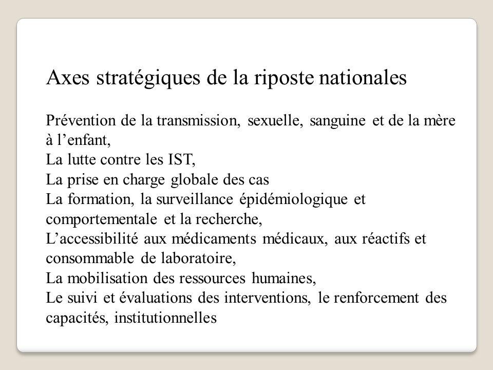 Axes stratégiques de la riposte nationales