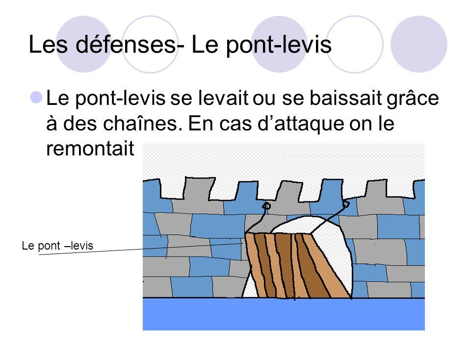 Les défenses- Le pont-levis