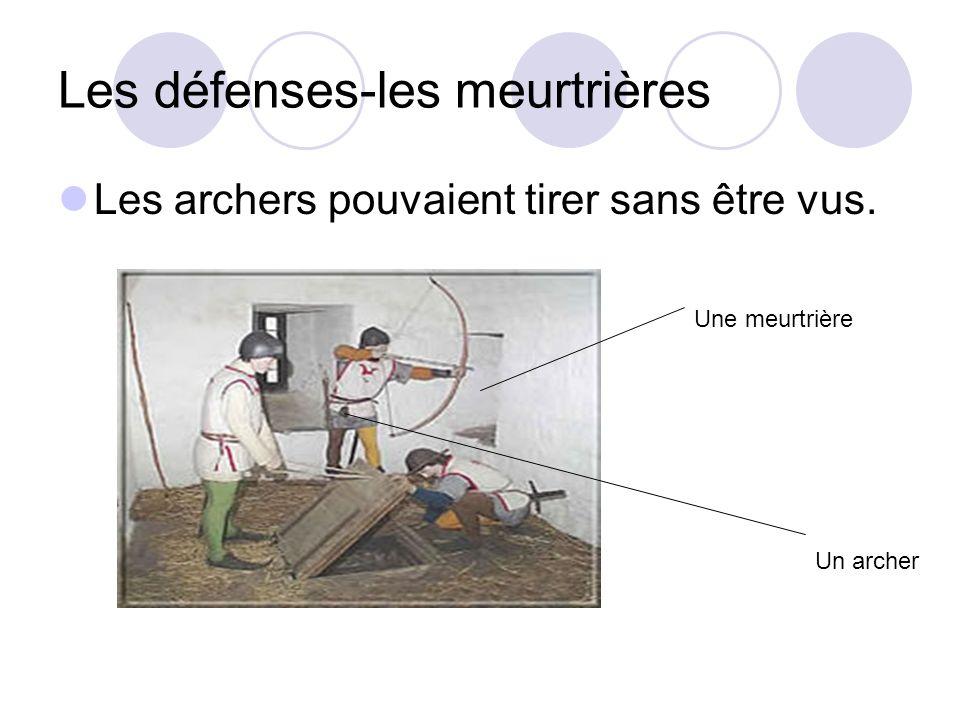 Les défenses-les meurtrières